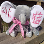 Grey Elephant personalized with Easyweed Heat Transfer Vinyl