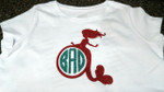 Simply add a monogram and you have a great shirt design (glitter heat transfer vinyl)