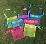 Sea Shell Beach Bags personalized with heat transfer vinyl