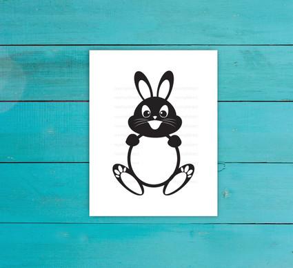 Bunny Circle Digital File
