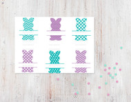 Bunny Name Frames Digital File - 6 Pack