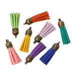 Mini Suede Tassels (30 pack) Random Assortment