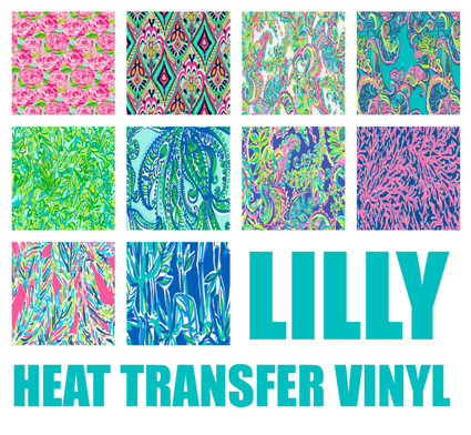 Lilly Inspired Heat Transfer Vinyl My Vinyl Direct