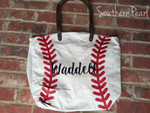 Baseball Tote personalized with our Easyweed Heat Transfer Vinyl