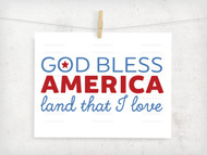 God Bless America Digital File