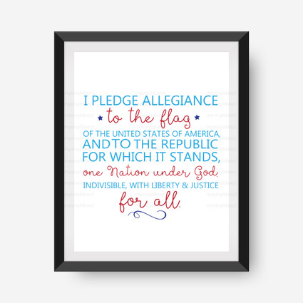 Pledge of Allegiance Digital File