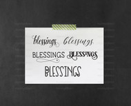 Blessings Digital File 5 Pack