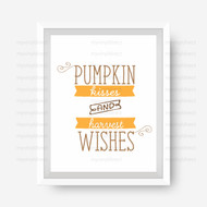 Pumpkin Kisses Harvest Wishes Digital File Pack