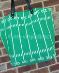 Football 50 Yard Line Tote
