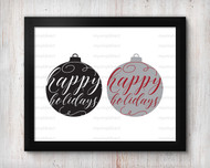 Happy Holidays Ornament Digital File