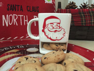 Cookie Ceramic Mug decorated with our Gloss 651 Red Vinyl.