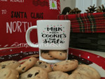 Cookie Ceramic Mug decorated with our Gloss 651 Black, Red, & Green Vinyl.