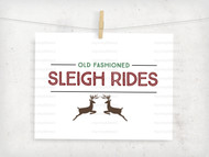 Sleigh Rides Digital File