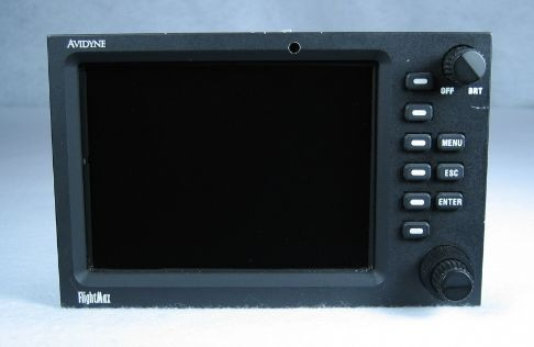 FlightMax 750 Multi-Function Display / Moving Map / Radar Indicator Closeup