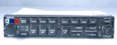 GMA-340 Audio Panel, Marker Beacon Receiver, and Stereo Intercom Closeup