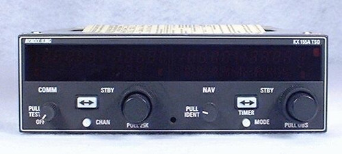 KX-155A NAV/COMM with Glideslope Closeup