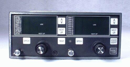 MAC-1700 VTX NAV/COMM Closeup