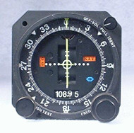 NAV-122 VOR / LOC / Glideslope Indicator / Glideslope Receiver / NAV Receiver / Marker Beacon Receiver and Indicator Closeup