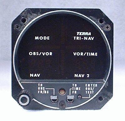 TRI-NAV C GPS / VOR / LOC / Glideslope Indicator Closeup