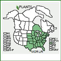 Native Range Map