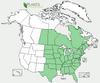 Aquilegia canadensis Native Range Map