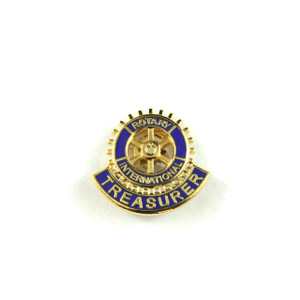 Rotary Treasurer Lapel Pin