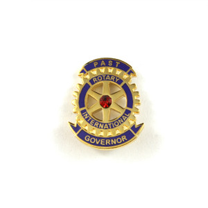 Rotary Past District Governor Lapel Pin with Red Stone