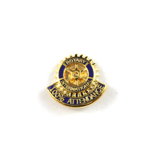 Rotary 100% Attendance Lapel Pin