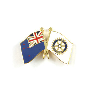 Rotary and New Zealand Flag Lapel Pin