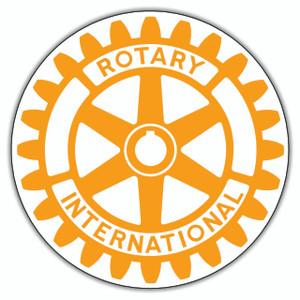 Rotary New Style Logo Round Sticker