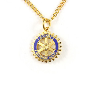 Rotary Emblem Necklace