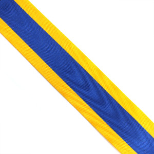 Blue and Gold Ribbon (per metre)