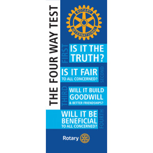 Rotary Four Way Test Pull-up Banner