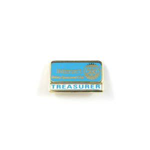 Interact Treasurer Lapel Pin
