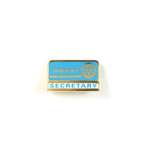 Interact Secretary Lapel Pin