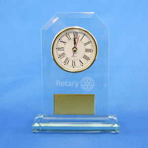Rotary Glass Clock