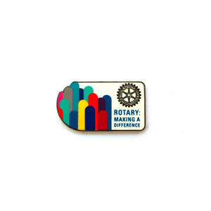 Rotary 2017-18 Theme Pin-back Lapel Pin