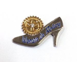 Women In Rotary Pin - Magnetic