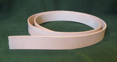 "1.25"" 8-9 oz. Veg Tan Cowhide Tooling Leather Belt Blank for Strops Slings Straps Western Tack Guitar Straps etc."