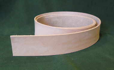 "1.5"" 8-9 oz. Veg Tan Cowhide Tooling Leather Belt Blank for Strops Slings Western Tack Guitar Straps etc."