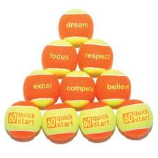 """""""Quick Start 60"""" Orange Felt Balls with slogans"""
