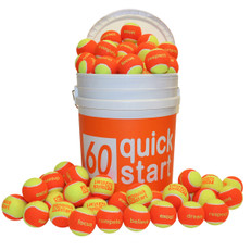 """Quick Start 60"" Orange Felt Balls with slogans"