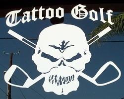 """Tattoo Golf Skull Decals - 5 x 6"""""""