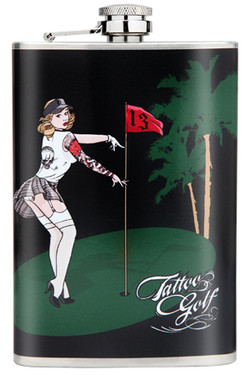 The Pin-Up flask is slim enough to fit in your hip pocket, purse or golf bag.  The perfect bridesmaids gift, groomsmen gift, birthday, anniversary, or just because gift!
