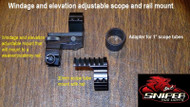 Sniper Hog Windage and Elevation adjustable mount