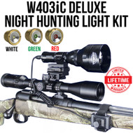 WICKED LIGHTS W403IC DELUXE NIGHT HUNTING LIGHT KIT FOR COYOTE, FOX, HOG, VARMINTS, PREDATORS