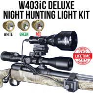 WICKED LIGHTS W403IC DELUXE NIGHT HUNTING LIGHT KIT FOR COYOTE, FOX, HOG, VARMINTS, PREDATORS