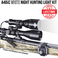 WICKED LIGHTS A48IC WHITE NIGHT HUNTING LIGHT KIT FOR COYOTE, HOG, FOX, BOBCAT, VARMINT