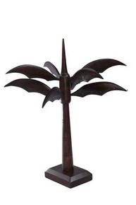 "15""  brown palm tree earring display"