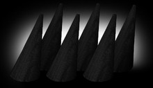 "2"" Black Ring cone ( Set of 6 )"